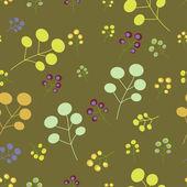 ビンテージ シームレスな花柄 2 — ストックベクタ