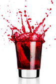 Red liquid splash — Stock Photo