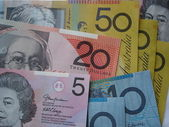 Cash in varying denominations — Stock Photo