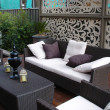 Outdoor entertaining area - Stock Photo