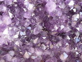 Purple crystals — Stock Photo