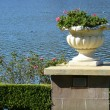 Urn by the lake — Stock Photo