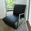 Stock Photo: Black and chrome chair