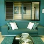Teal Blue Sofa Lounge — Stock Photo