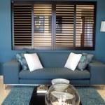 Blue Family Room — Stock Photo