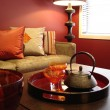 Warm Lounge Room Oranges — Stock Photo