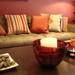 Stock Photo: Warm Lounge Room Oranges