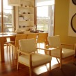 Open Plan Kitchen Dining Lounge Neutrals — Stock Photo