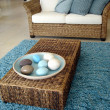 Stock Photo: Blue Lounge and Rug