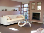 Open Plan Lounge Pinks — Stock Photo