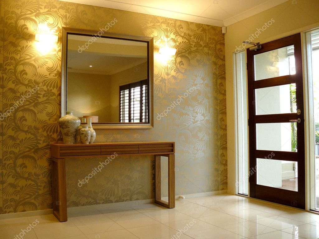 Download modern front entrance interior stock image 6222371