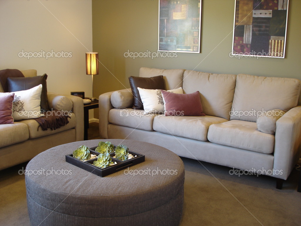 Modern loungeroom with decorator furnishings — Stock Photo #6222437