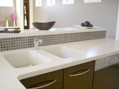 Modern kitchen sink — Stock Photo