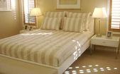 Classic stripe masater bedroom — Stock Photo