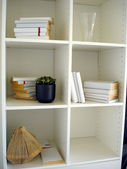 Storage and display shelves — Zdjęcie stockowe