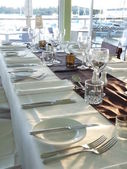 Table setting for a function — Stock Photo