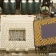 Stock Photo: Microprocessor and socket in motherboard