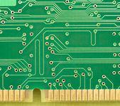 Green circuit board — Stock Photo