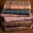 Stack of antique books — Stock Photo #6190330