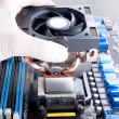 Installing CPU cooler — Stock Photo
