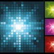 Royalty-Free Stock Vector Image: Abstract lights background with mosaic sunburst