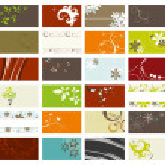 Elegant business cards set — Stock Vector