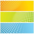 Abstract grid banners - Grafika wektorowa