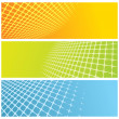 Stock Vector: Abstract grid banners