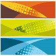Abstract banners (headers) — Stock Vector