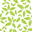 Stock Vector: Seamless pattern with green leaves