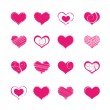 Stock Vector: Heart shapes
