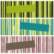 Stock Vector: Grunge stripes banners