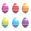 Colorful easter eggs - Stockvectorbeeld
