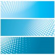 Stock Vector: Abstract halftone banners