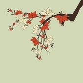 Větve s květy — Stock vektor