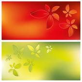 Sfondi floreali di carta — Vettoriale Stock