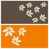 Fondo floral tarjeta — Vector de stock