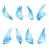 Sailboat icons — Stock Vector
