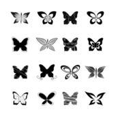 Conjunto borboleta — Vetor de Stock