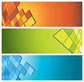 Colorful banners (headers) — Stock Vector