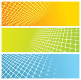 Abstract grid banners — Stock Vector