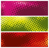 Grunge halftone banners — Stock Vector