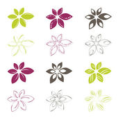 Flower icons — Stock Vector