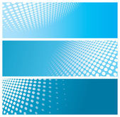 Abstract halftone banners — Stock Vector