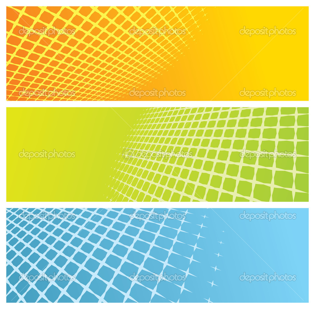 Abstract grid banners, vector illustration — Stock Vector #5948156