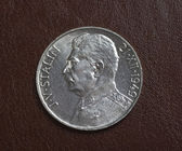 Czech silver coin — Stock Photo