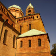 Speyer Cathedral side walls, Germany - Stock Photo