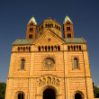 Speyer Cathedral main facade, Germany - Stock Photo