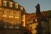 Hercules statue and Schloss, Heidelberg — 图库照片