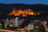 Heidelberg Castle illuminated at night — Stock Photo